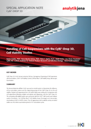 Flyer 3D Cell Suspension Handling