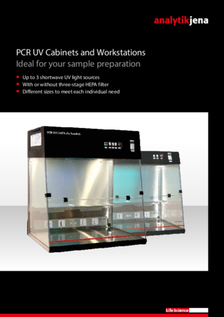 Brochure PCR UV Cabinets & Workstations