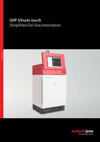 Brochure UVP UVsolo touch – Stand-alone Gel Documentation System