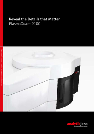 Brochure Optical-Emission Spectrometer - PlasmaQuant 9100
