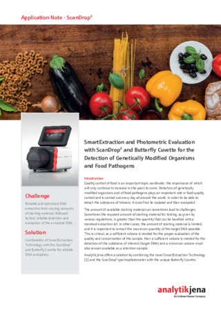 Application Note ScanDrop2 SmartExtraction photometric evaluation food
