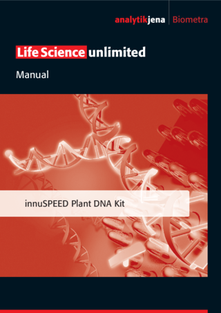 Manual innuSPEED Plant DNA Kit