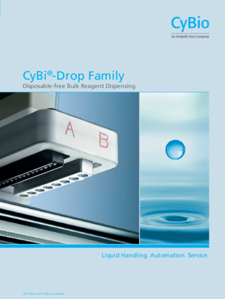 Brochure CyBio Drop – Contactless dispensing