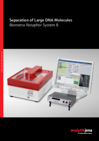 Product Brochure Biometra Rotaphor System 8 (Separation of Large DNA Molecules)